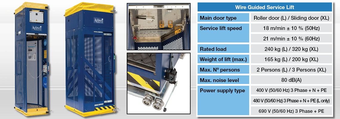 Wire Guided Service Lifts